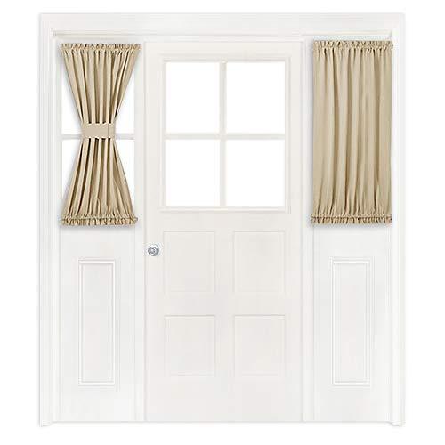 Cream Drapery Panels - NICETOWN Side Lights Front Door Curtain - Entry Way Decor Room Darkening French Door Thermal Drapery Panel (25