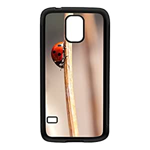 Lady Bug Black Silicon Rubber Case for Galaxy S5 by Mick Agterberg + FREE Crystal Clear Screen Protector