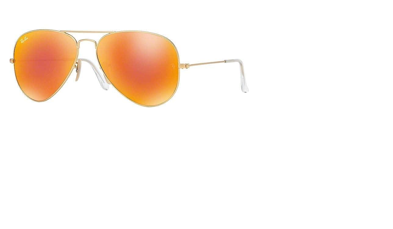 f2afc2a16 Amazon.com: Ray-Ban AVIATOR LARGE METAL - Gold/Orange Flash Frame PHOTO ORANGE  GSM Lenses 58mm Non-Polarized: Ray-Ban: Clothing