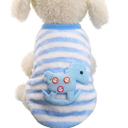 Photno Cute Penguin Xmas Pet Clothes for Dog Pajamas Soft Christmas