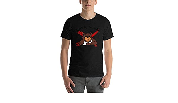 Grumpy Morning Bear Bella Canvas Short-Sleeve Unisex T-Shirt