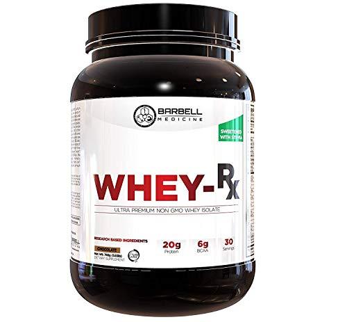 Barbell Medicine, Whey Protein Isolate Powder with Pure BCAAs (2:1:1 Ratio), Jordan Feigenbaum, Non-GMO, GMP, Chocolate, 786 Grams