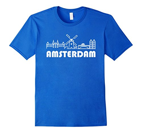 Mens Amsterdam T-Shirt - Tee Shirts for Man Woman Kids XL Royal (Amsterdam Tee)