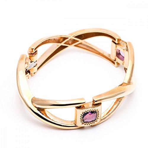 Bracelet Rebecca Bijoux Bronze gold pierres violet bcmbra80vv