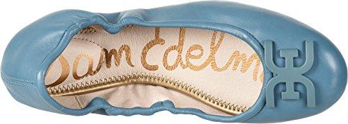 Sam Edelman Mujeres Florence Ballet Flat Denim Blue Nappa Luva Leather
