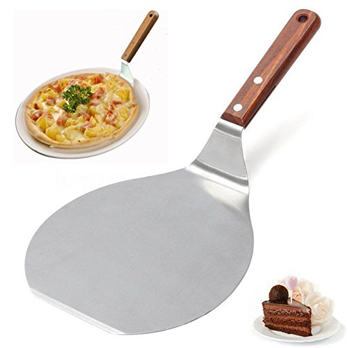 13'' Stainless Steel Pizza Spatula Peel Shovel Cake Lifter Plate Holder Baking