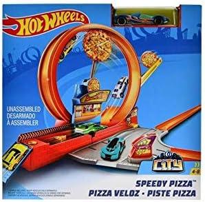 Hot Wheels Mattel Speedy Pizza Set Multicolor