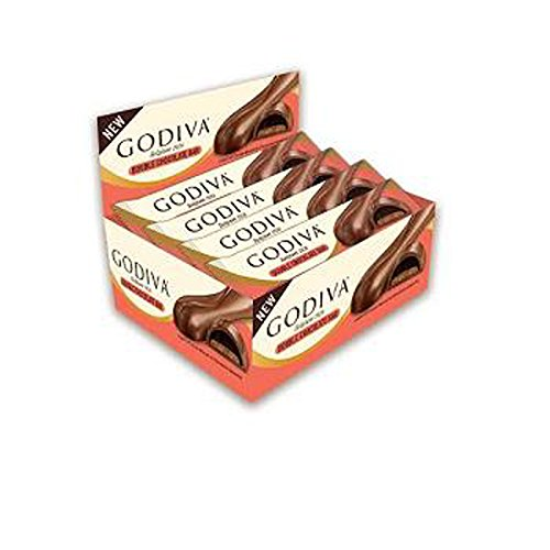 Godiva Chocolate Biscuits (Godiva Double Chocolate Bar 1.2 oz / 36 g 12 ct Layer of Cocoa Biscuit & Chocolate Ganache)
