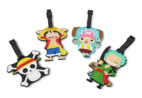Finex Set of 4 - One Piece Straw Hat Pirates Travel Luggage Tags Bag Tag Strap by Finex