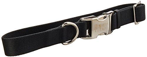 Coastal Pet Products Nylon Titan Adjustable Dog Collar with Metal, 1 Inch, Black