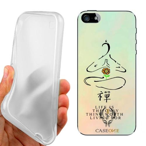 CUSTODIA COVER CASE CASEONE FRASE ZEN PER IPHONE 5 5G 5S
