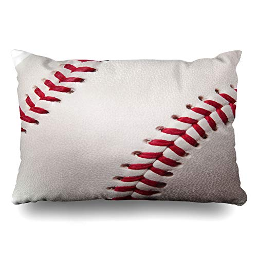 - InnoDIY Throw Pillow Covers Baseball Boys Bedroom Red and White Pillowslip Queen Size 20