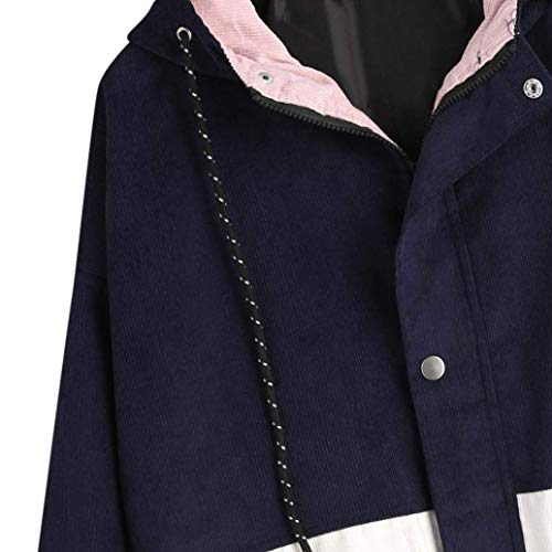 Manica Huixin Baggy Costume Navy College Donna Giaccone Outdoor Giacca Fidanzato Coat Autunno Jacket Cappotto Lunga Elegante rwxFqEr4