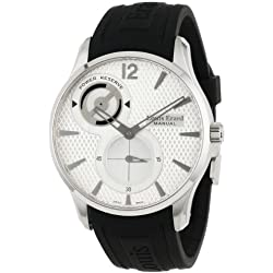 Louis Erard Men's 53209AS01.BDE03 1931 Silver Dial Power Reserve Rubber Watch