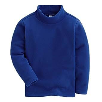 LittleSpring Little Girls' Slim T-shirt Solid Size 2T Dark-blue