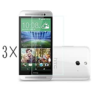 [3-Pack]Professional High Transparency LCD Crystal Clear Screen Protector with Cleaning Cloth for HTC Desire 816