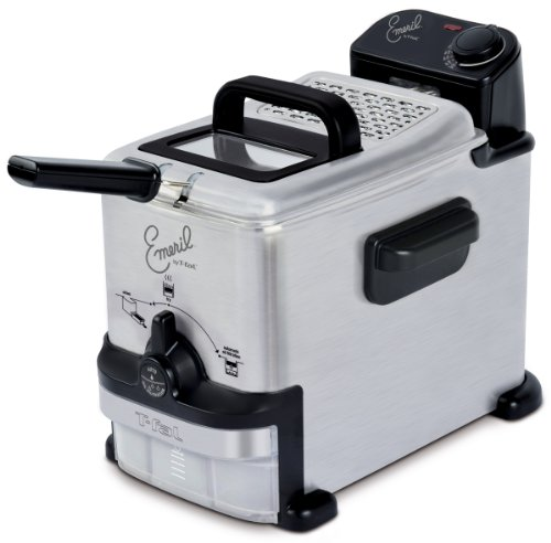 Emeril by T-fal FR702D 1.8-Liter Deep Fryer with Integrated Oil Filtration, 1.1-Pound, Silver