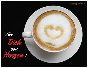 Spruchekarte Spruche Herz Kaffee Muttertag Valentinstag Valentin