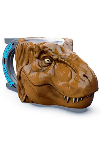 (Zak Designs Jurassic Park World 2 Sculpted 11 Ounce Coffee Mug - T-Rex Dinosaur)