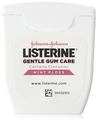 Listerine Gentle Gum Mint Floss, With Cinnamon 50 Yards (Pack of 3)