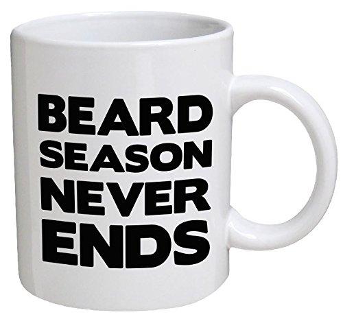 Funny Mug - Beard season never ends, dad, father - 11 OZ Coffee Mugs - Funny Inspirational and sarcasm