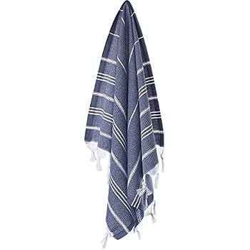 "Cacala Hand Face Turkish Pestemal Fouta Kitchen Baby Care Towel, 23 x 36"", Dark Blue"