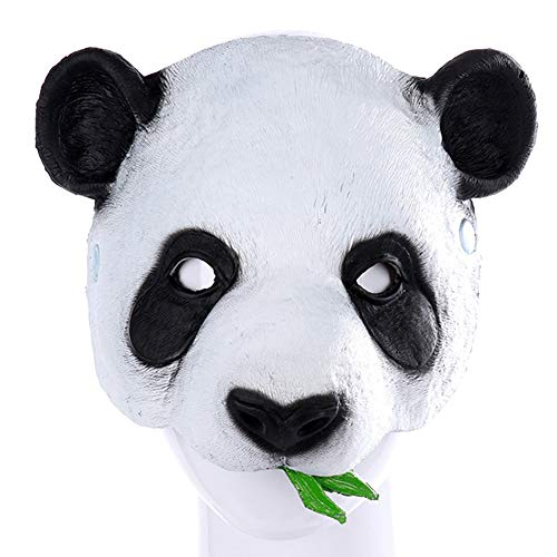 Panda Mask, Cute Bear Animal Half Face Masks, Halloween Party Costume Cosplay for Adults Men Kids White Black