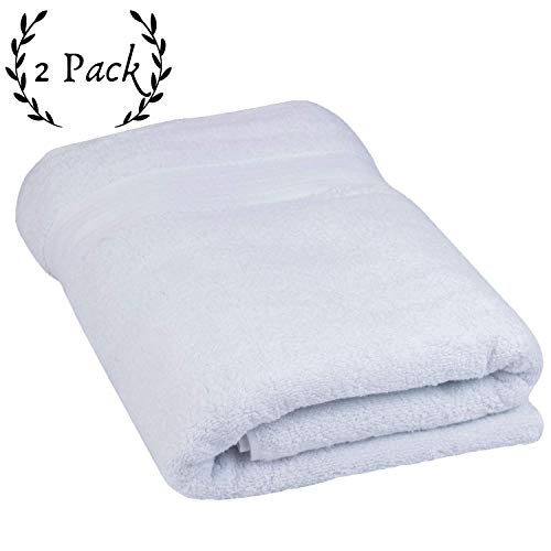 Luxurious Egyptian Cotton Bath - Super Thick and Thirsty 1,000 GSM Turkish Cotton Bath Sheets - Elite Hotel and Spa Quality Organic Cotton Towels (2 Pack, 30x60)