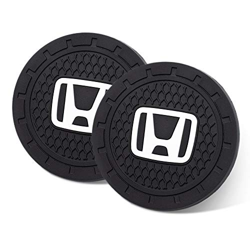 JIYUE 2.75 Inch Car Interior Accessories for Honda Cup Holder Insert Coaster – Silicone Anti Slip Cup Mat for Honda All Models (2 Pack)