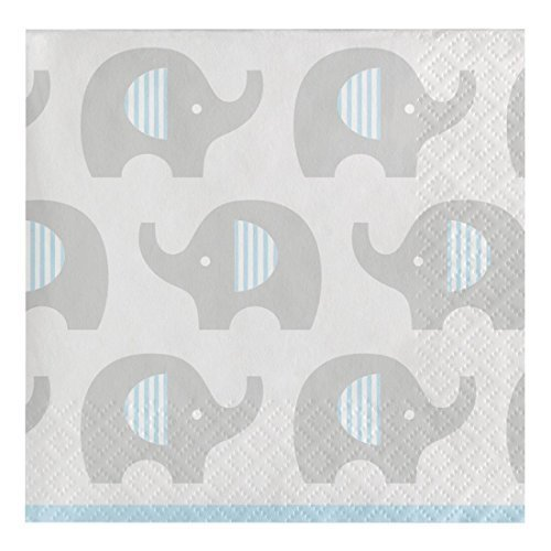 Creative Converting 316933 80 Count Paper Beverage Napkins, Little Peanut- Boy for $<!--$15.72-->