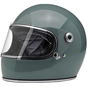 Biltwell Unisex-Adult Full-Face-Helmet-Style Gringo S DOT Certified Full-Face Helmet (Agave Blue, Medium)