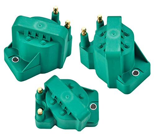 (Pack of 3 Professional Ignition Coil fit for Buick LaCrosse LeSabre Rendezvous Skylark Malibu Cadillac Deville Alero 10467067 89056799)