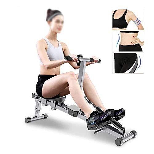 ZJZ Roeimachine,Indoor Resistance Rowing Machine,Indoor Rower Opvouwbare HD Data Displayble Track,Geschikt voor H