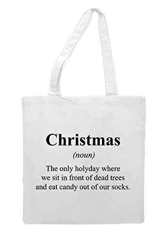Definition Not Christmas In White Dictionary Funny Tote The Bag Swxq1