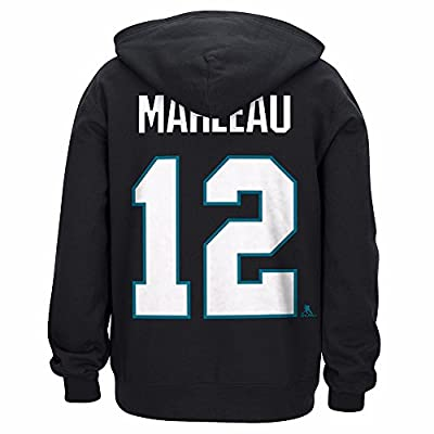 "Patrick Marleau San Jose Sharks NHL Reebok Black ""Honor Code"" Player N&N Lace Up Pullover Hoodie For Men"