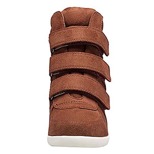 Vino 5 Zeppa Primavera Scarpe Stivali EU36 Nappa Brown Per US5 Donna UK3 CN35 TTSHOES Marrone Sneakers 5 Blu Comoda 6xPqBfw8w
