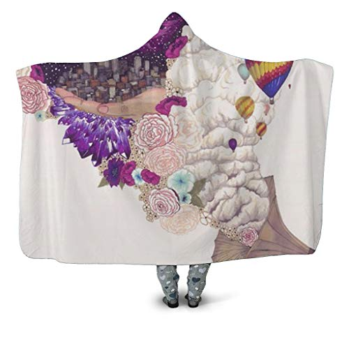 URVIR Super Soft Throw Blanket Custom Design Cozy Fleece Blanket for Sofa or Bed HB-196 S (Furniture Melbourne Outdoor Buy)