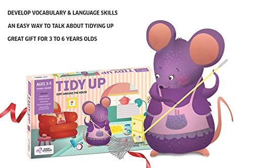 Chalk and Chuckles Tidy Up - Preschooler, Sorting and Organising Activity Game for Kids 3 to 6 Years Old, Learn Cooperative Play