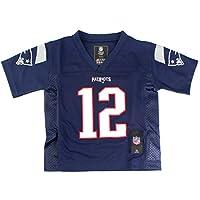 Tom Brady #12 New England Patriots NFL Toddler Mid-tier Jersey Navy (Toddler ...