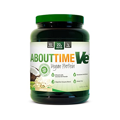 SDC Nutrition About Time Ve Vegan Protein Powder, Vanilla, 2 Pound by SDC Nutrition