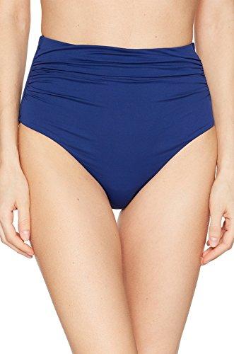 LAUREN RALPH LAUREN Women's Beach Club Solids High-Waist Bottom Indigo 8