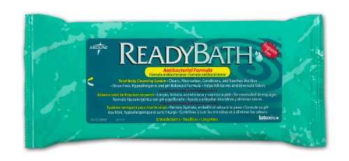 MEDLINE MSC095101 ReadyBath Antibacterial Washcloths