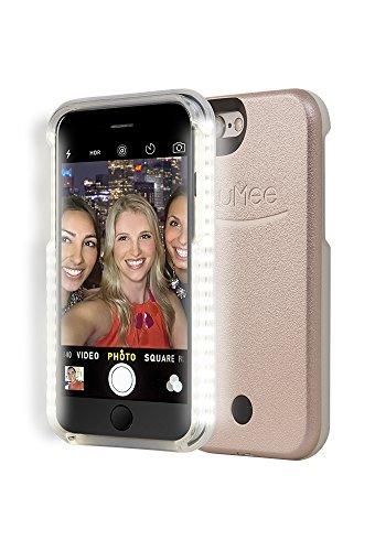 premium selection 15472 ea47c LuMee Original Phone Case, Rose Gold | LED Lighting, Variable Dimmer |  Shock Absorption, Bumper Case, Selfie Phone Case | iPhone 6s