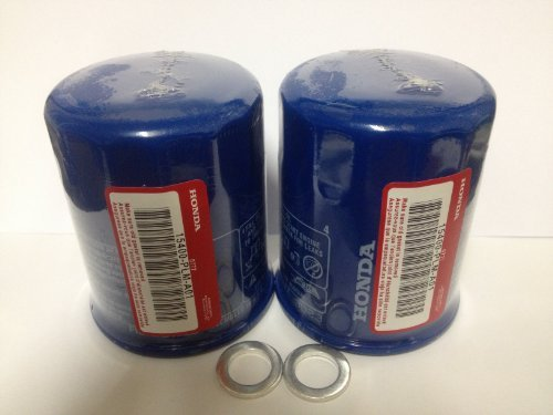 2x Genuine Honda Acura Oil Filter 15400-plm-a02 with Washer (2007 Honda Civic Si Oil Filter)