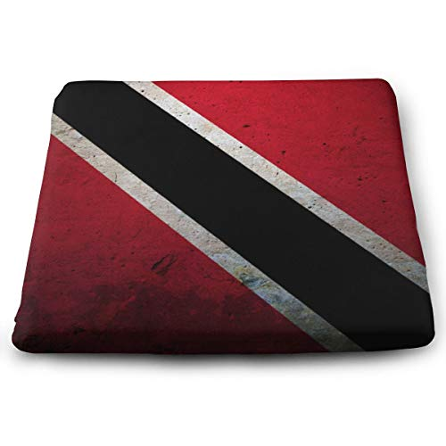 NiYoung Flag of Trinidad and Tobago Seat Cushion Memory Foam Cushion for Outdoor Patio Furniture Garden Home Office, Square Ergonomic Sit Cushion for Lower Back Tailbone Coccyx Hips ()