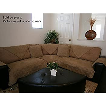 Bonded Micro Suede Quilted Sectional Sofa Throw Pad Furniture Protector  Sold By Piece Rather Than Set