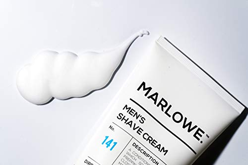 MARLOWE. Shave Cream with Shea Butter & Coconut Oil No. 141 6 oz   Natural Shaving Better than Gel   Men and Women…