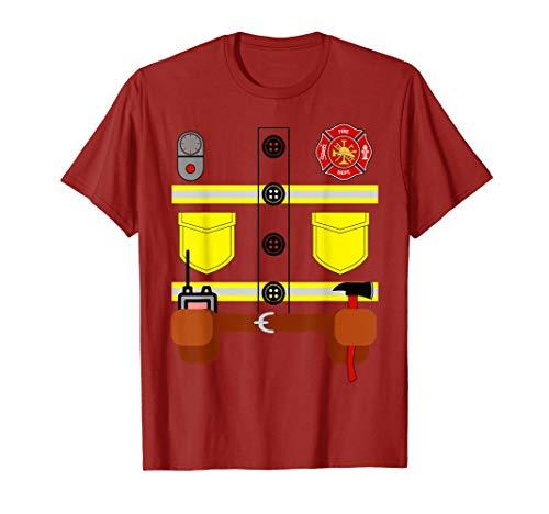 Diy Fireman Halloween Costume (Firefighter Fireman Easy Lazy DIY Halloween Costume Boys  )
