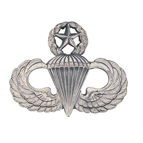 Medals of America Army Master Parachute Badge Silver Oxide Finish Regulation Size Full Size