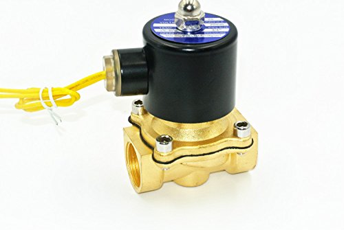 Electric Solenoid Valve 3/4 Inch 12V DC Water Air Gas Normally Closed High Quality Replacement Brass Valve for Use with Pipelines in Water Air and Diesel Applications (24v Sprinkler Valve)